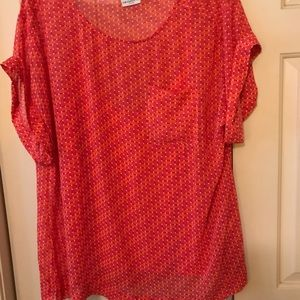 Short sleeve tunic top with cami